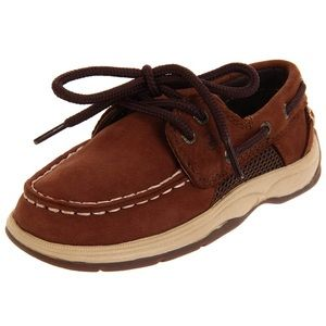 Sperry brown intrepid little boys shoe size 10 EUC